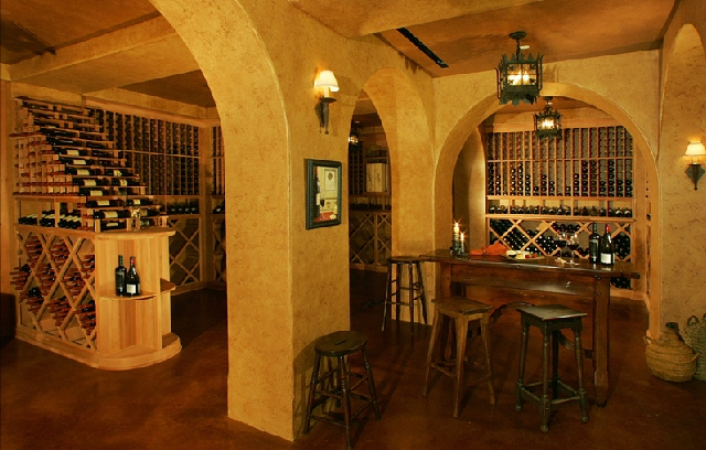 Our fully stocked wine cellar